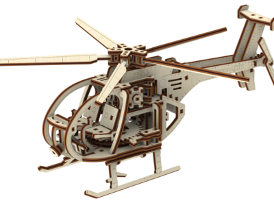Helikopter Model Z Drewna 1
